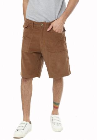 BROWN CORDUROY SHORT PANTS