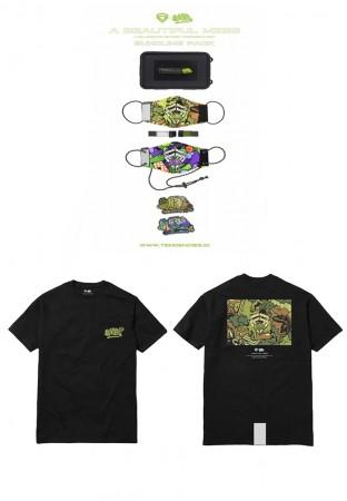 Bundle A BEAUTIFULL MESS TEE CAMO & Masker Pack