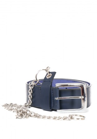 NAVY BELT WITH CHAIN