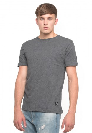 POCKET T`SHIRT LOGO MISTY DARK GREY