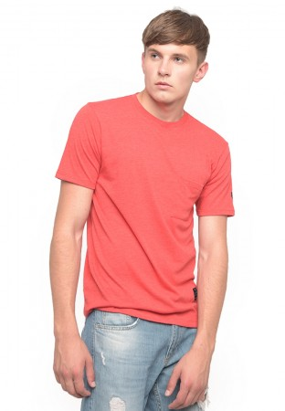 POCKET T`SHIRT LOGO MISTY RED