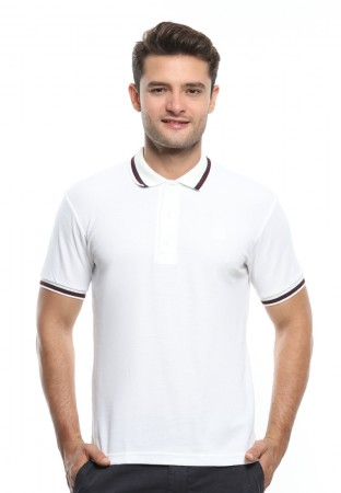 POLO WHITE DOUBLE STRIPE