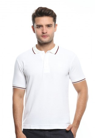 POLO WHITE STRIPE MAROON
